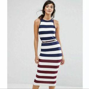 Ted Baker Yuni Rowing striped dress NWT